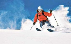 Powder ski